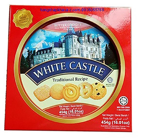 Bánh Butter Cookies White Castle 454g màu đỏ