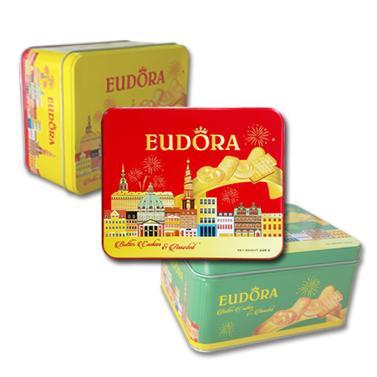 Bánh Eudora tổng hợp  hộp thiếc 206g