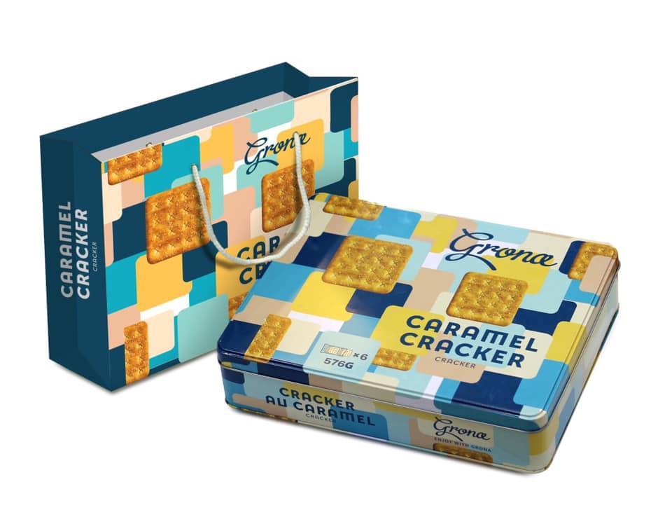 Bánh hộp thiếc Grona Caramel 576G