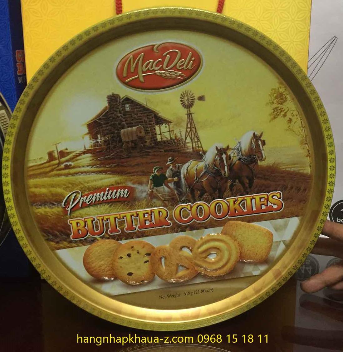 Bánh Macdeli Butter Cookies618g