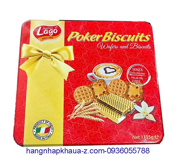 Bánh Quy -Ý Lago Poker Biscuits 1115g