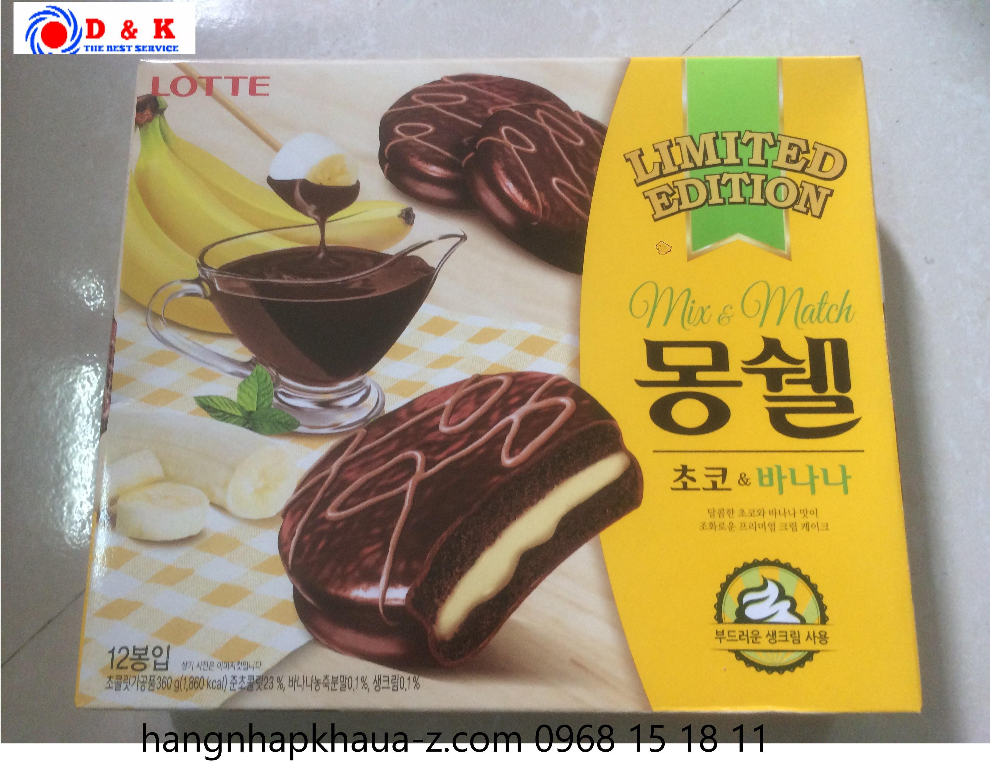 Bánh tươi  vị Chuối -Lotte Hàn Quốc