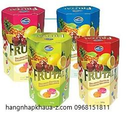 Kẹo Arcor Frutal  hộp giấy lục lăng 300g