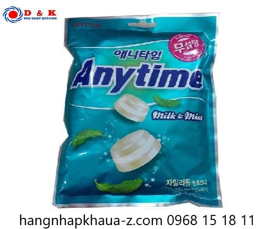 Kẹo bạc hà Anytime Hàn Quốc