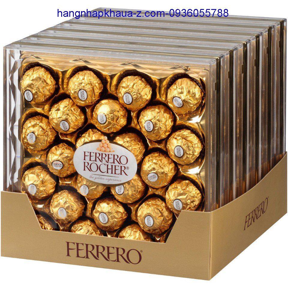 Kẹo Socola Ý- Ferrero Rocher hộp 24 viên