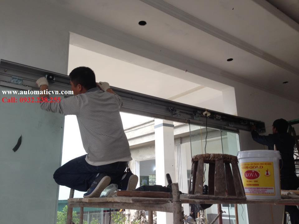 Lắp cửa kính tự động nhà riêng TP Lai Châu