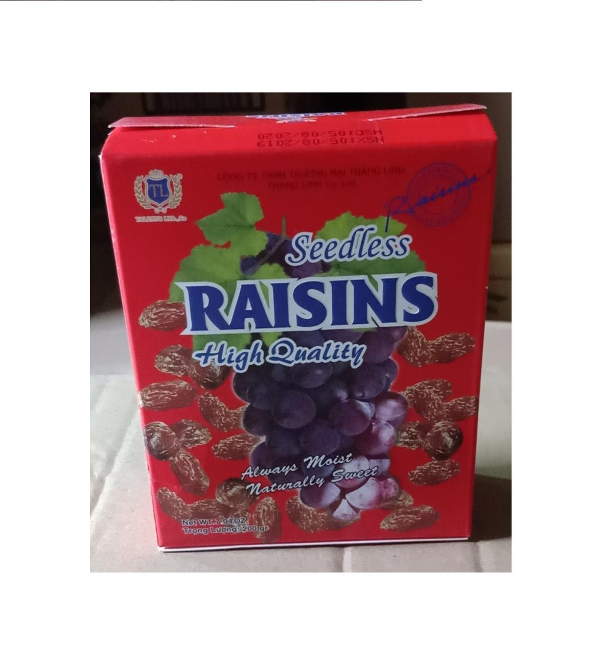 Nho đen Seedless raisins 200g