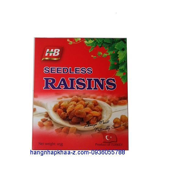 Nho khô Thổ Nhĩ Kỳ -Seedless Raisins 125g