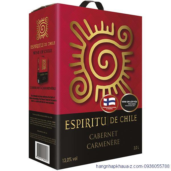 Rượu vang bịch Espiritu 3l