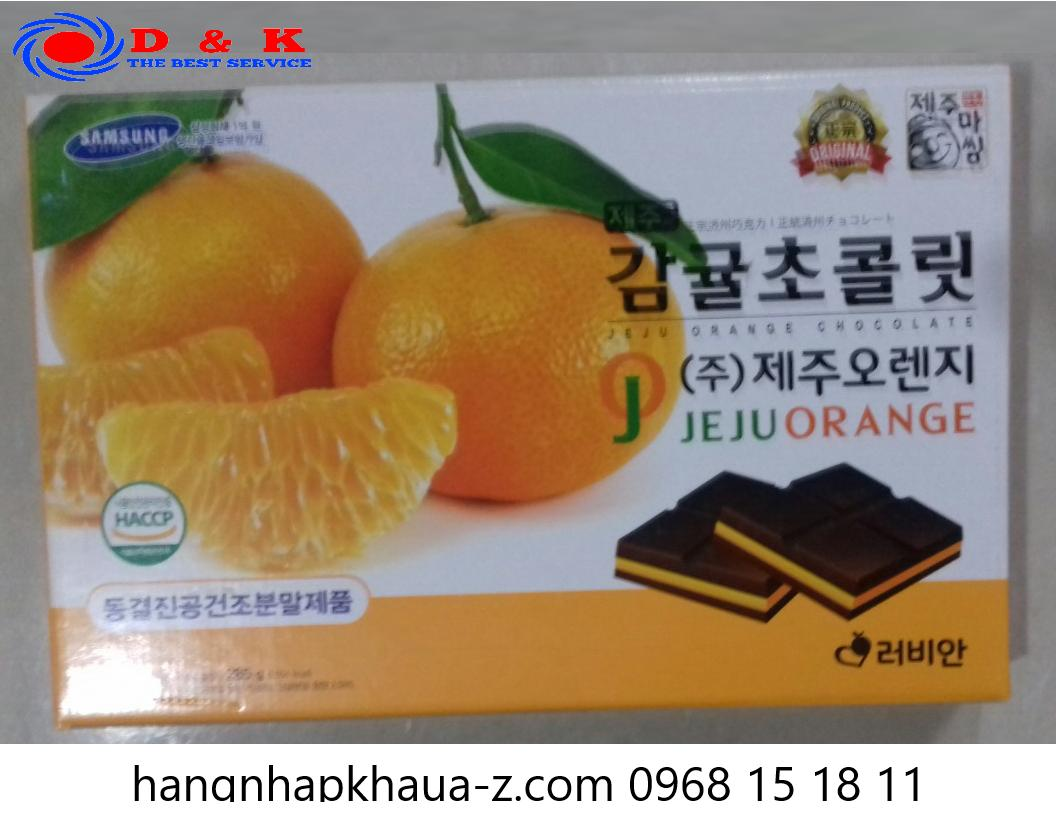 Socola Jeju  Hàn Quốc vị cam 285g